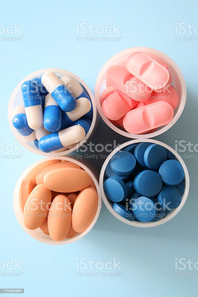 Groups of pills royalty-free stock photo