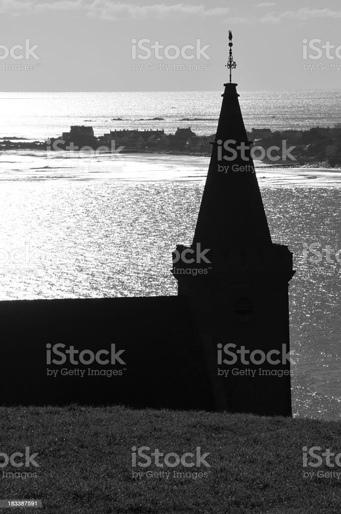 Grouville Bay, Jersey. stock photo