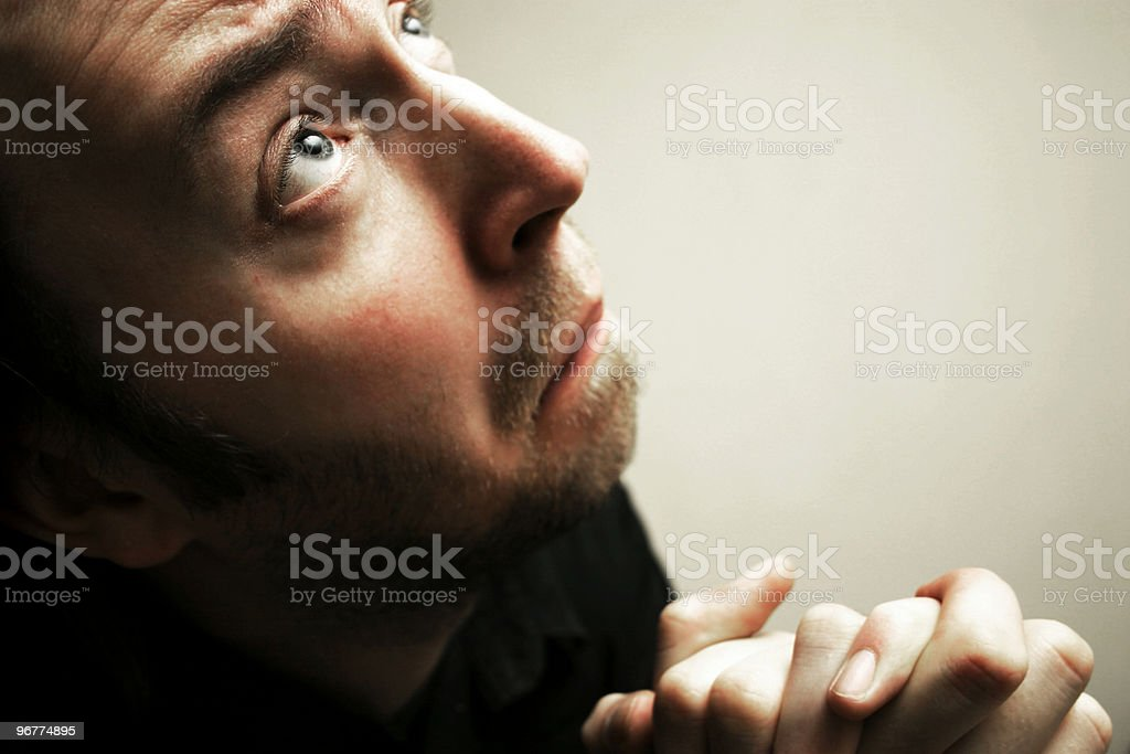 Groveling stock photo