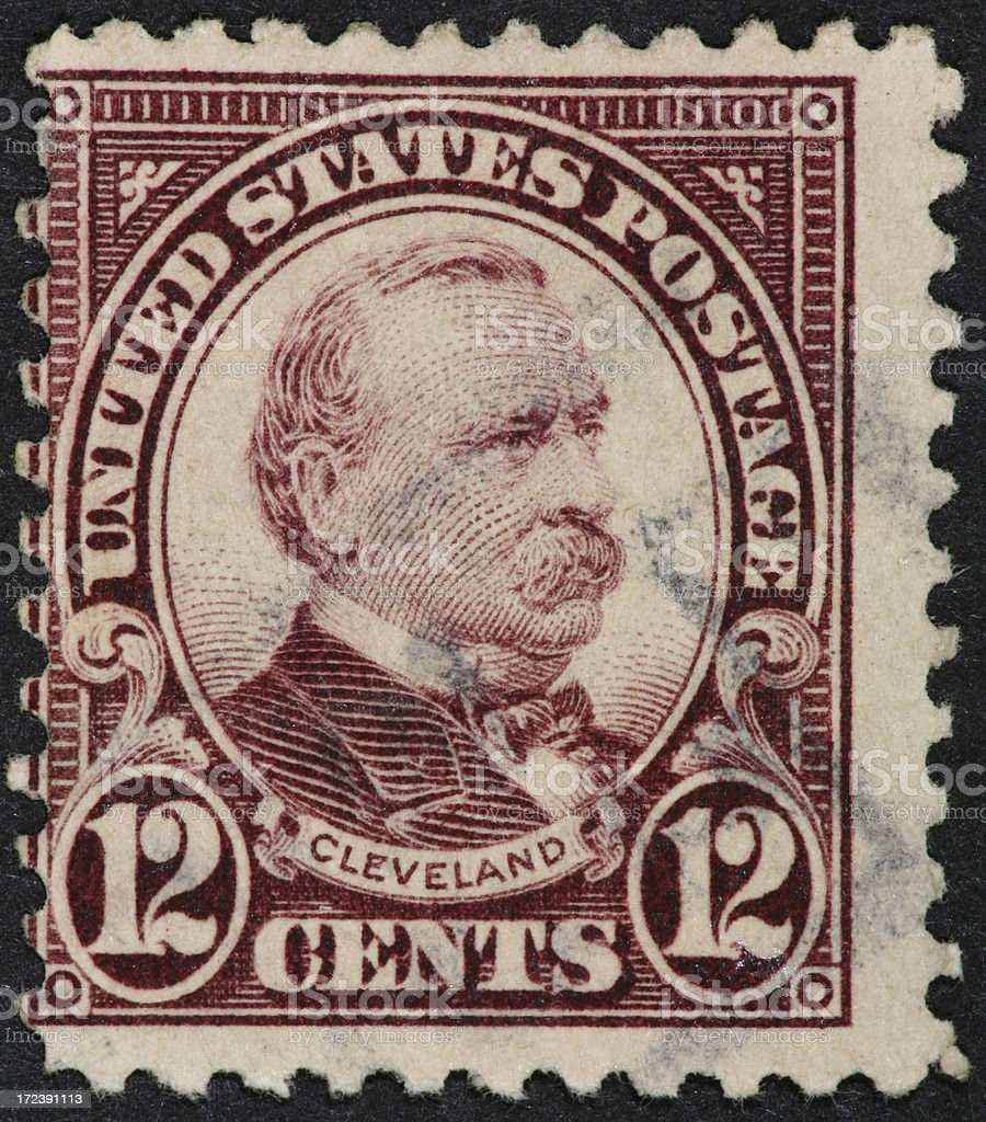 Grover Cleveland stamp 1922 stock photo
