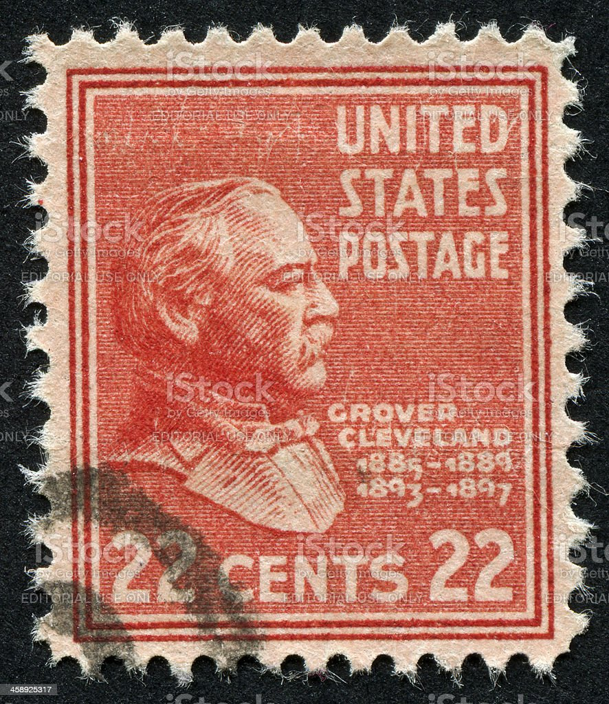 Grover Cleveland Stamp stock photo