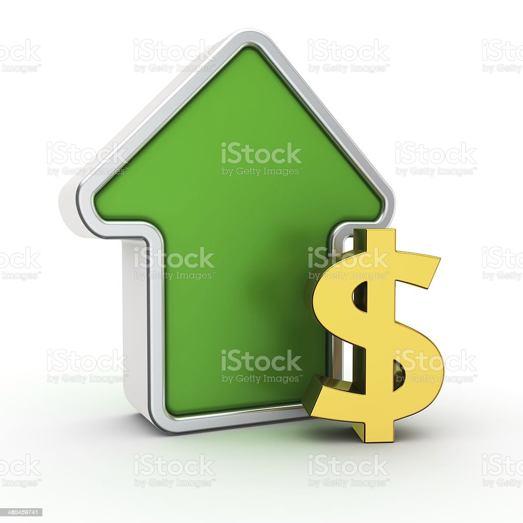 Grow of dollar rate royalty-free stock photo