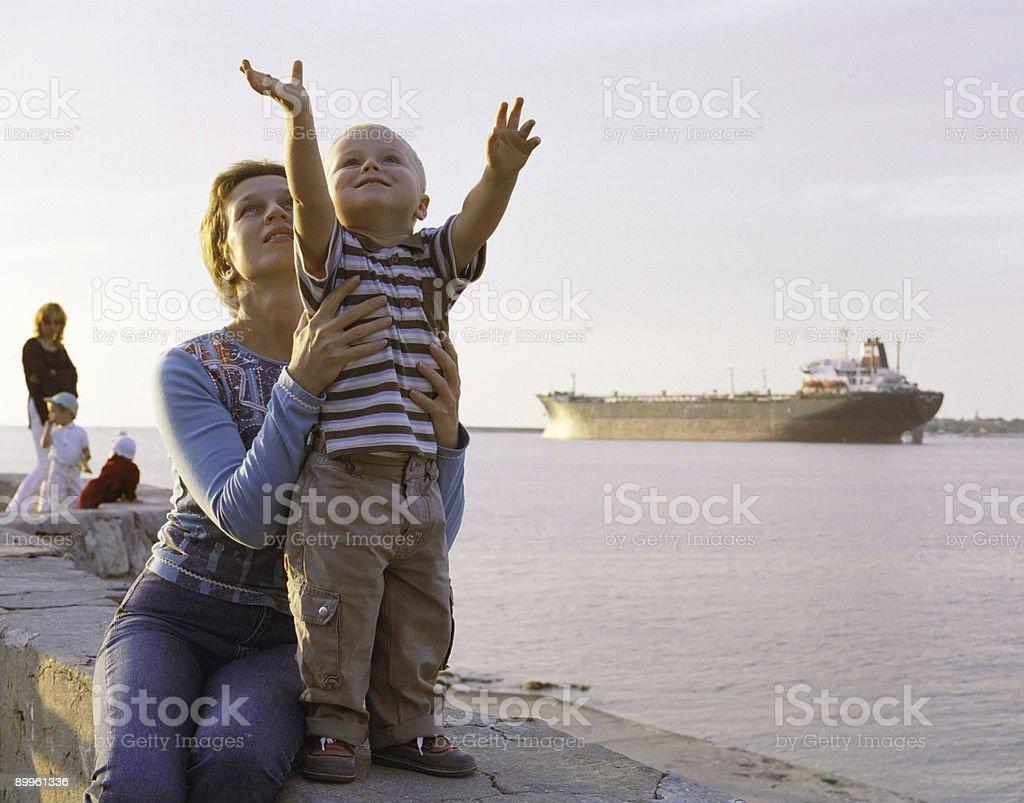 Grow up boy! stock photo
