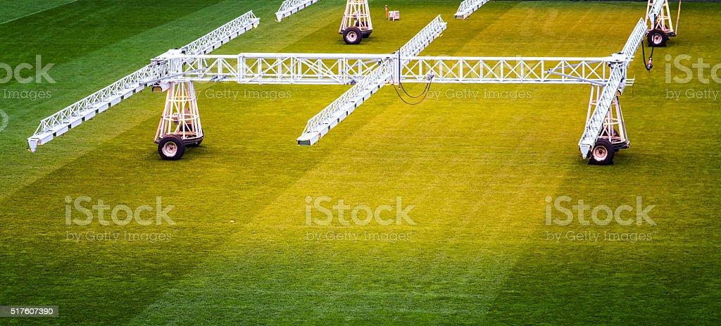 Growing a football field stock photo