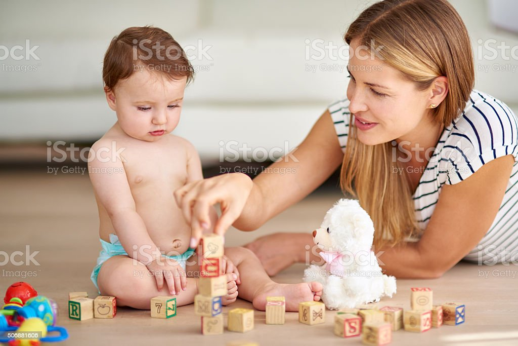 Growing and learning is child's play stock photo
