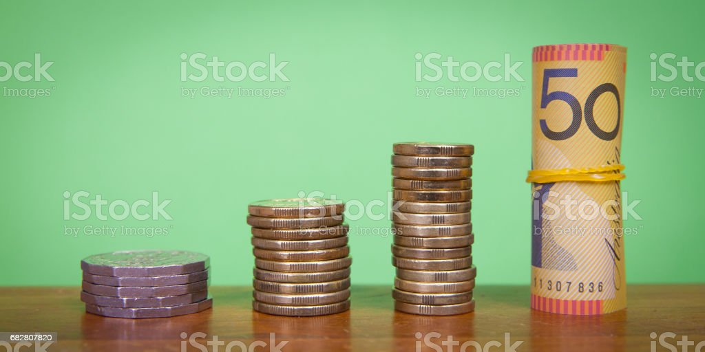 Growing Australian Savings stock photo