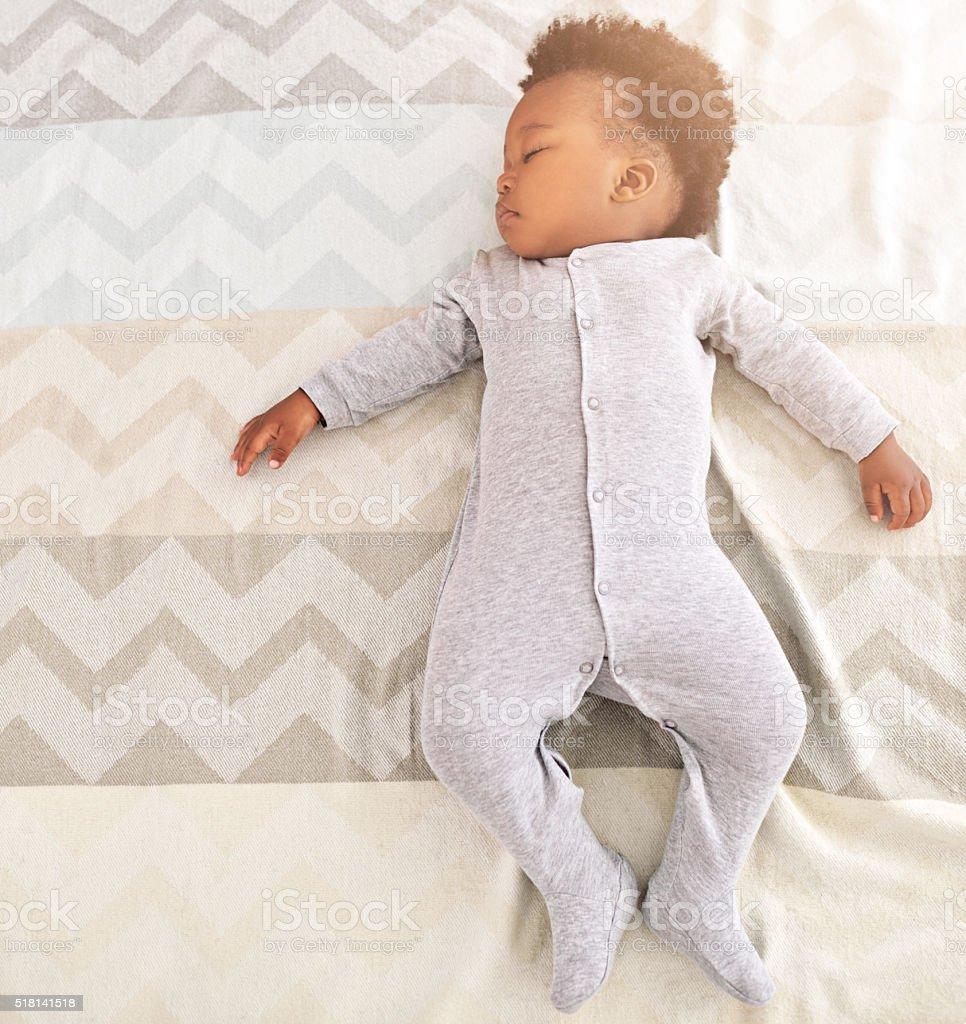 Growing babies need plenty of sleep royalty-free stock photo