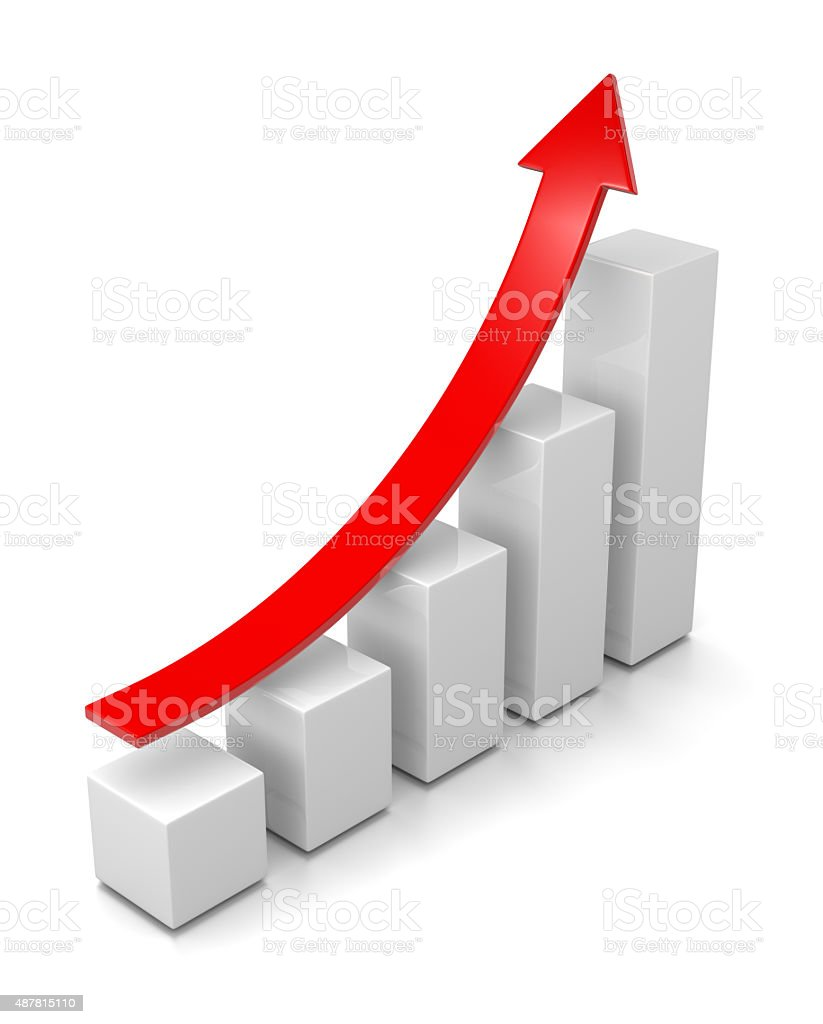 Growing Bar Chart stock photo