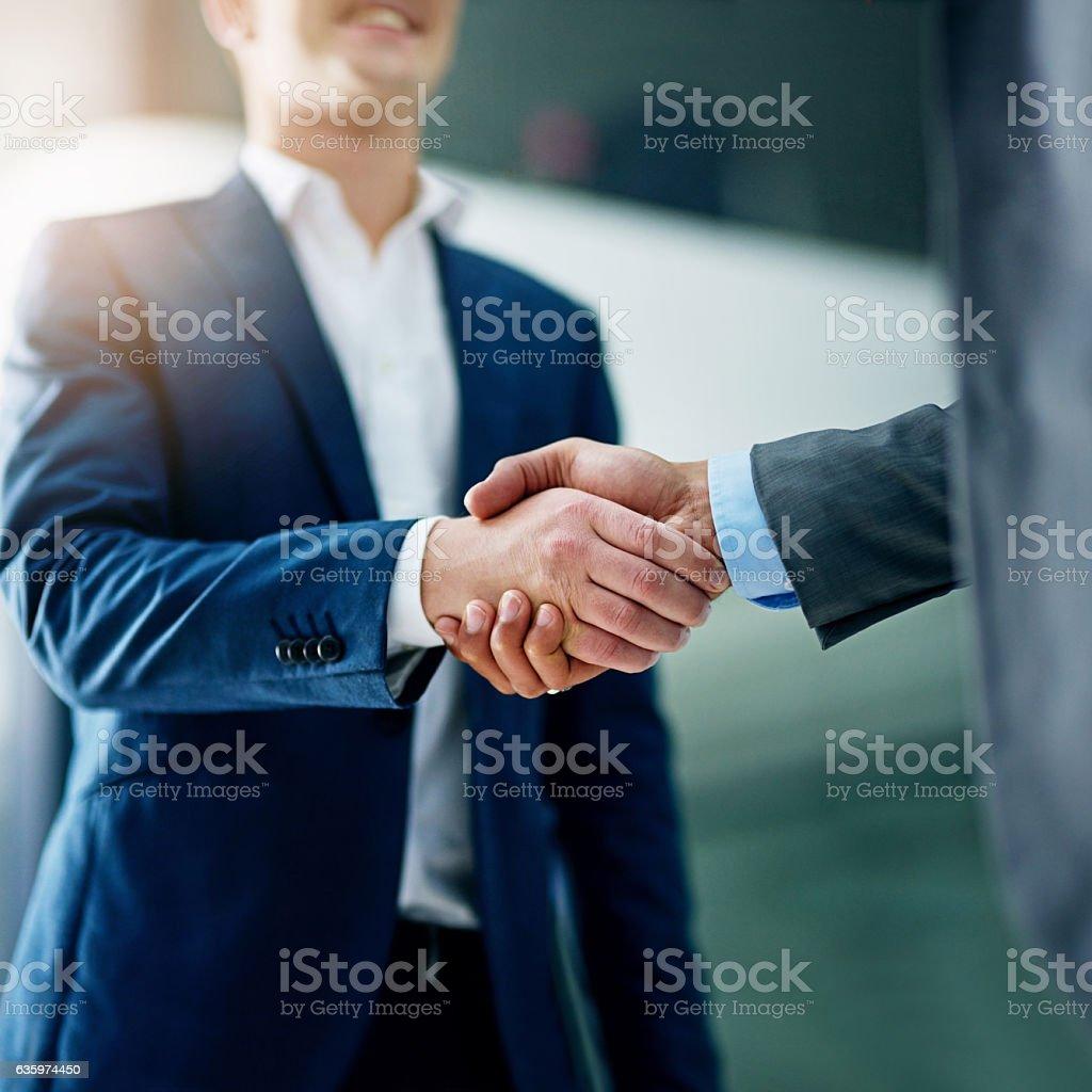 Growing business through strengthened partnerships stock photo