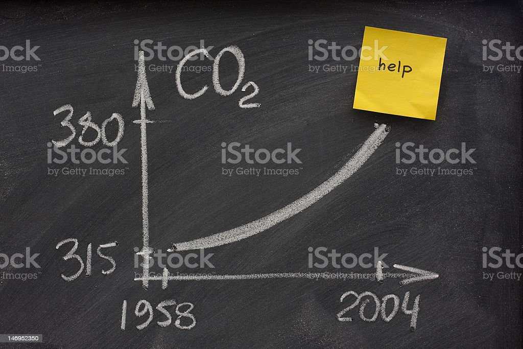 growing concentration of carbon dioxide royalty-free stock photo