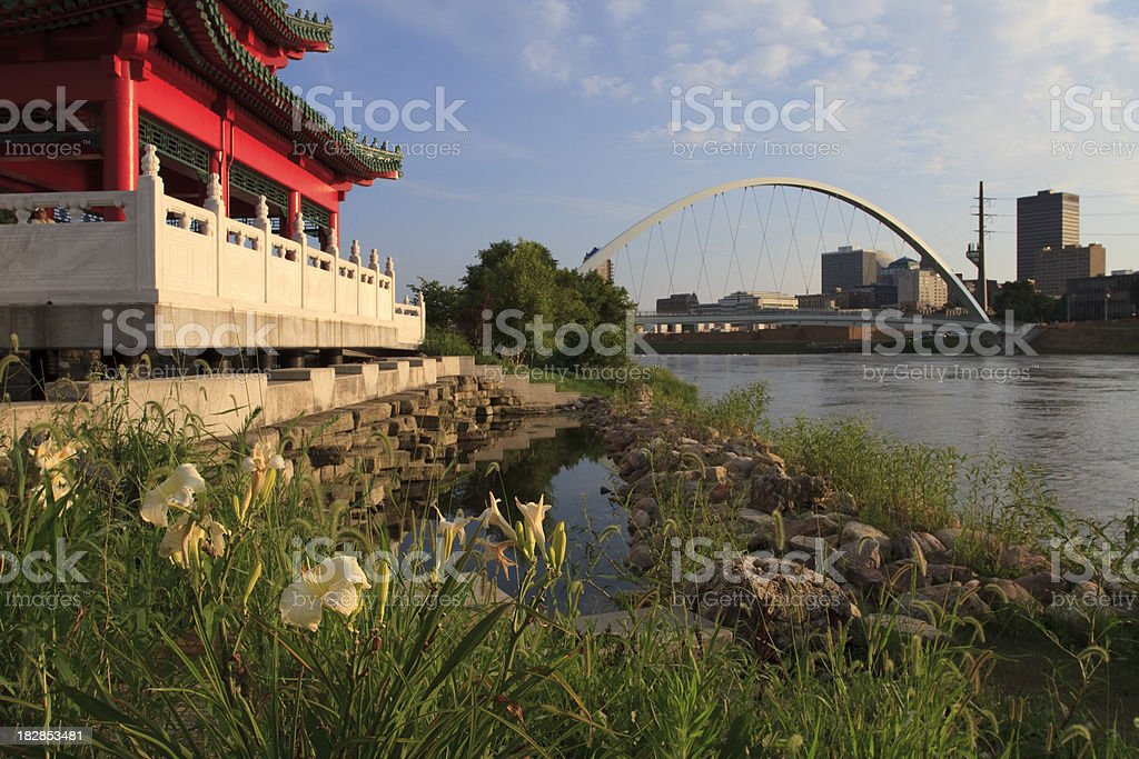 Growing Des Moines royalty-free stock photo