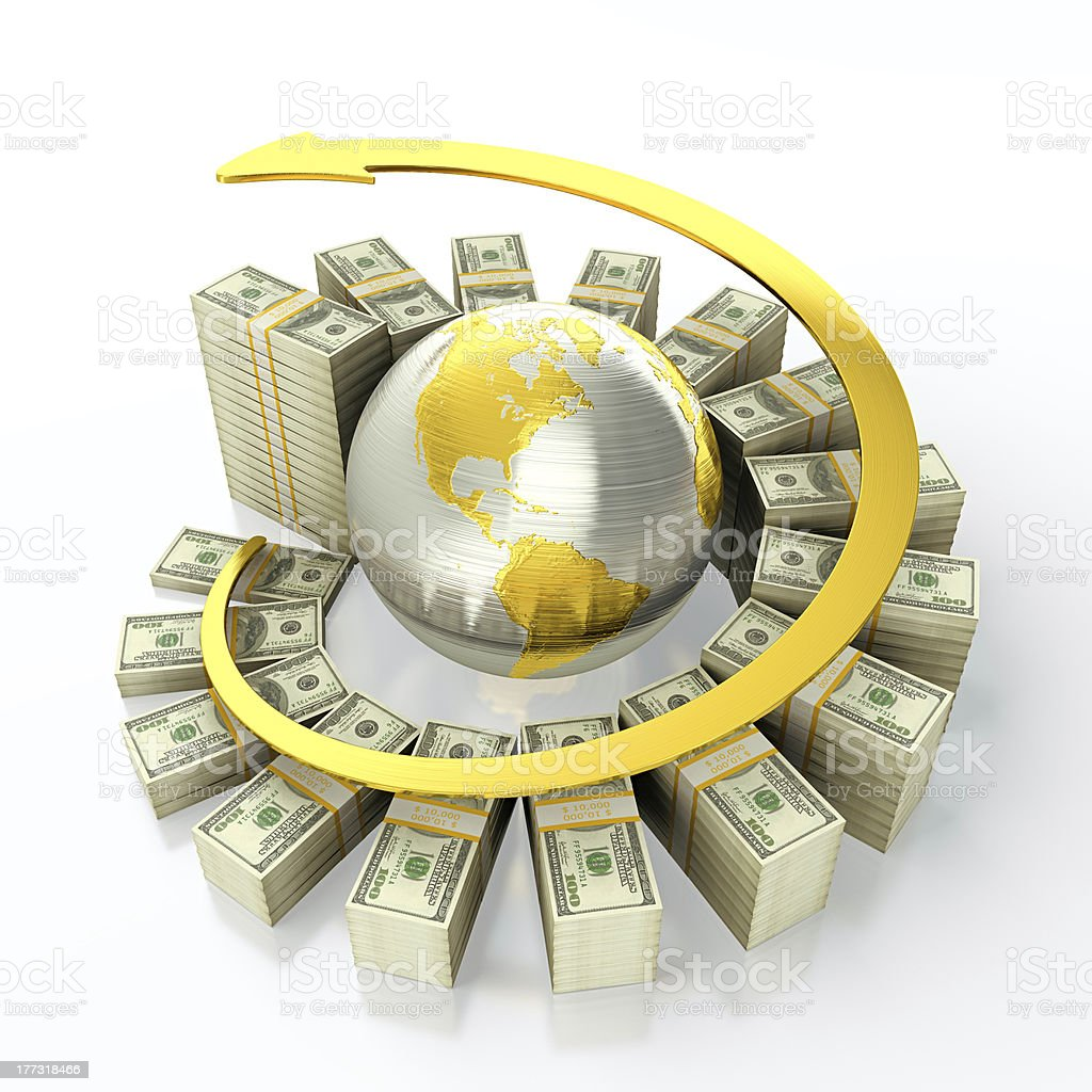 Growing dollar royalty-free stock photo