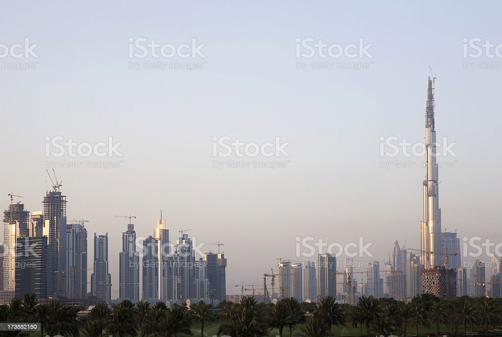 Growing Dubai royalty-free stock photo