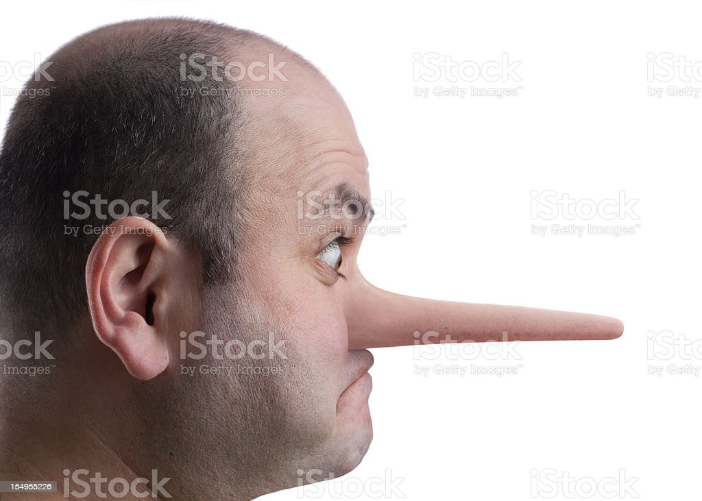 Growing nose stock photo