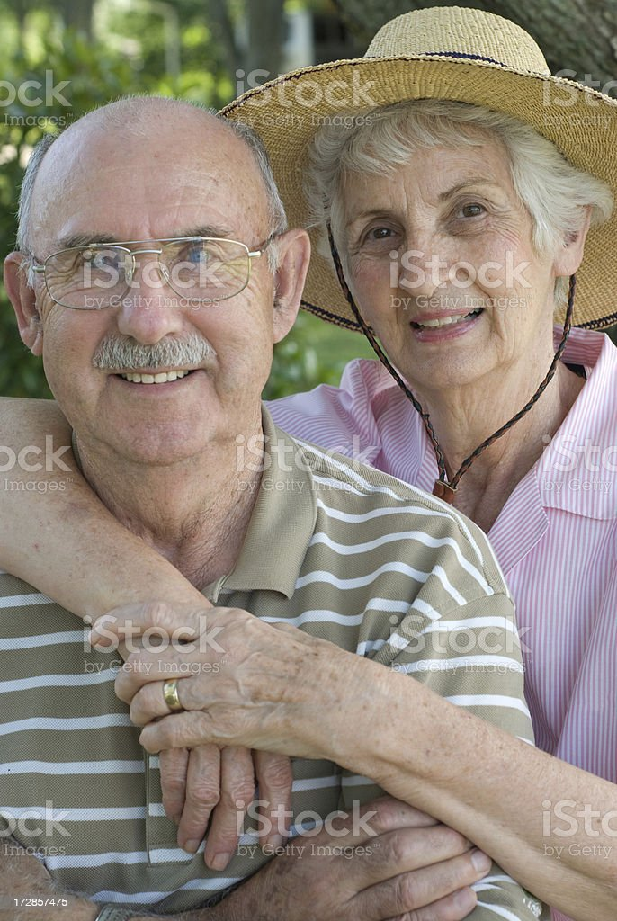 Growing Old Together - Senior Couple royalty-free stock photo