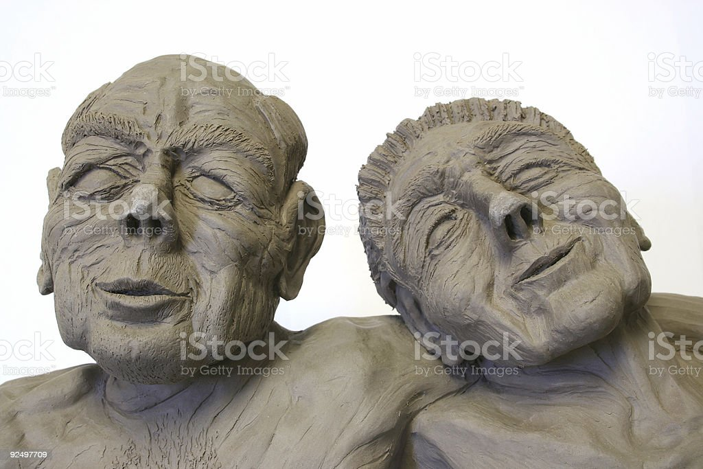 Growing old with dignity stock photo