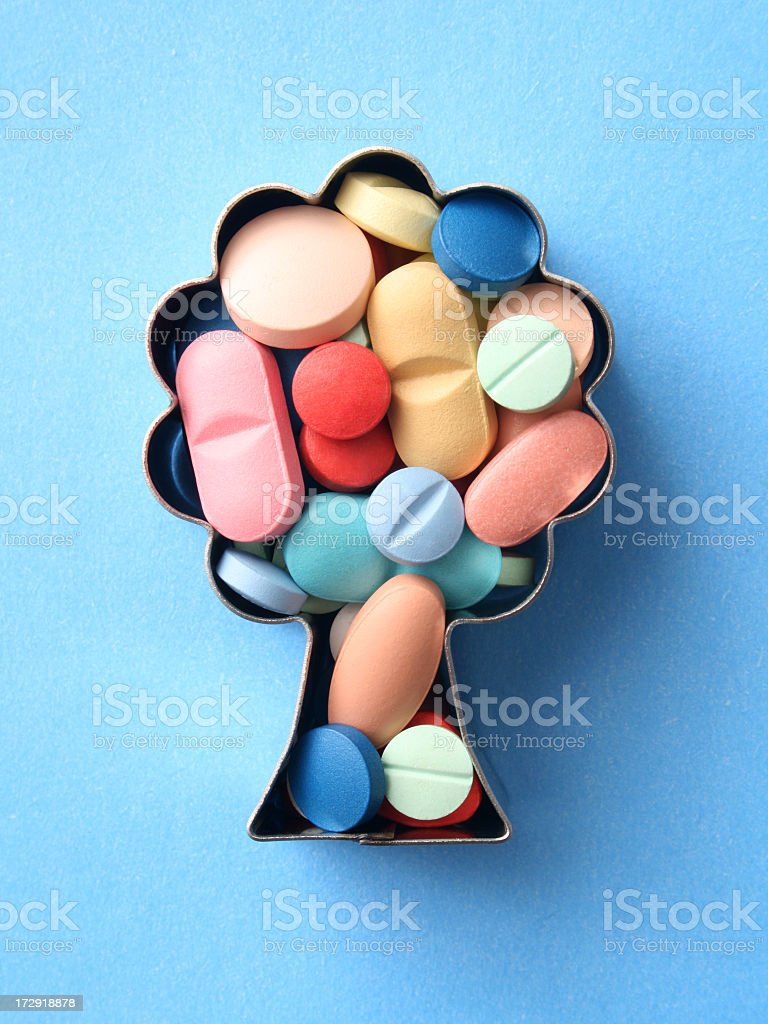 Growing pills royalty-free stock photo