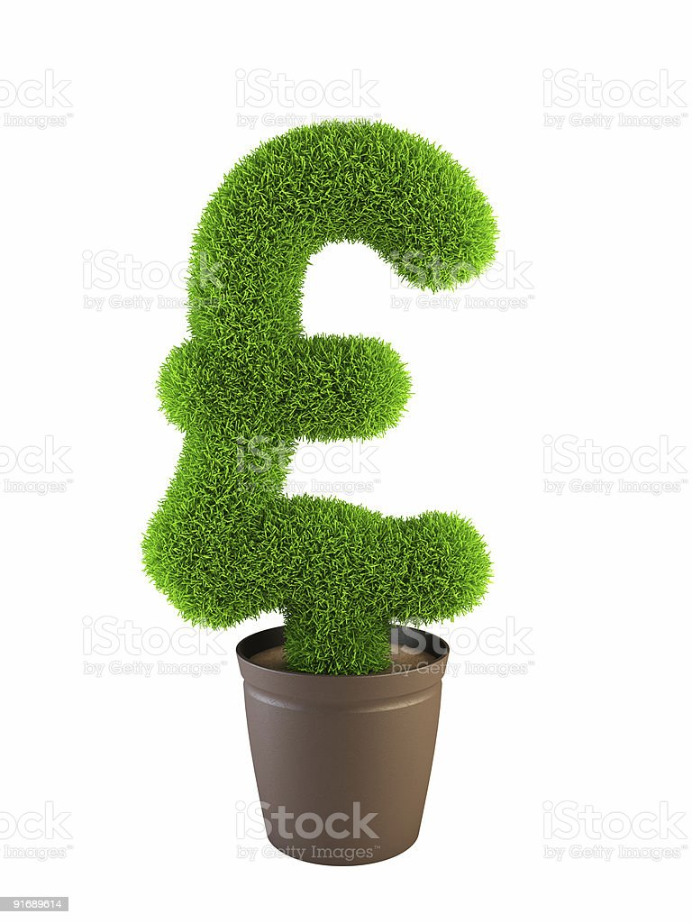growing pound symbol royalty-free stock photo