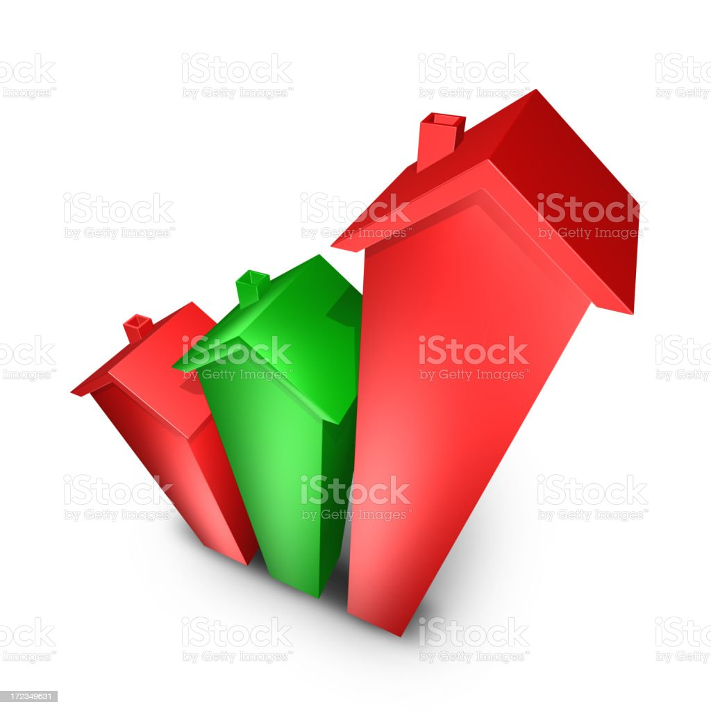 growing real estate chart royalty-free stock photo