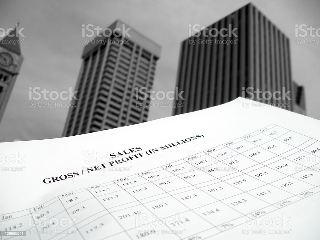 Growing Sales royalty-free stock photo