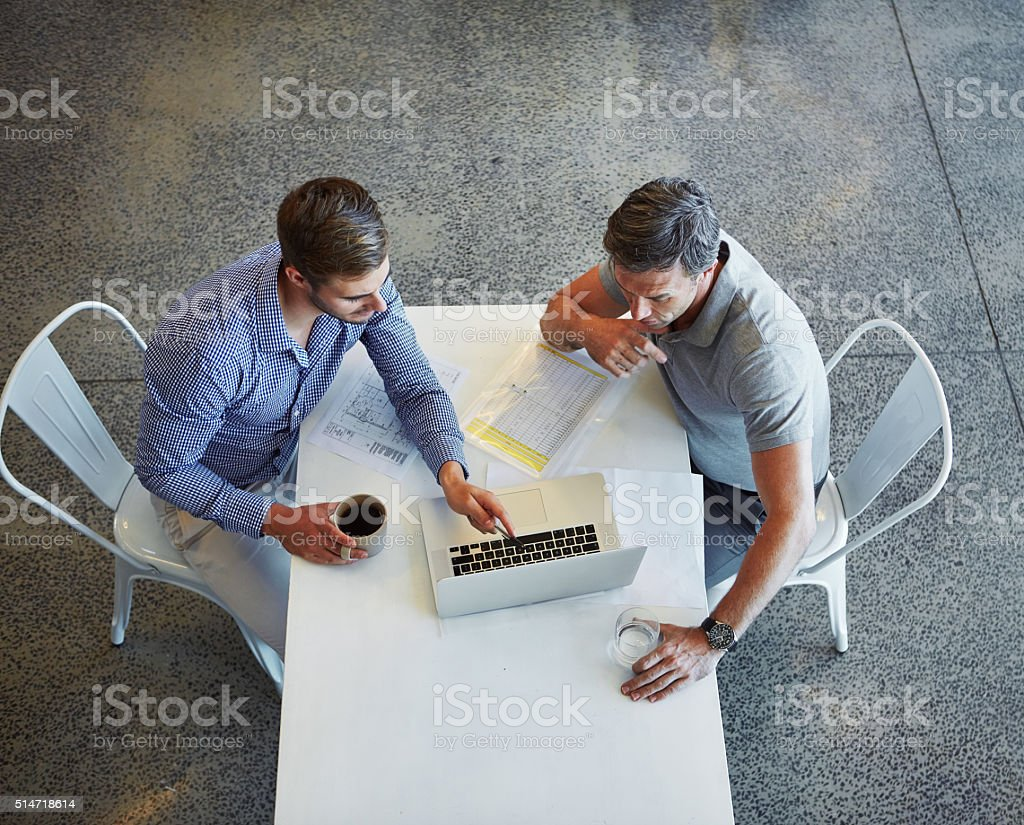 Growing their business using online resources stock photo