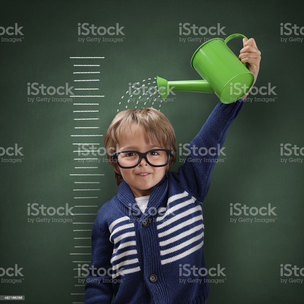 Growing up stock photo