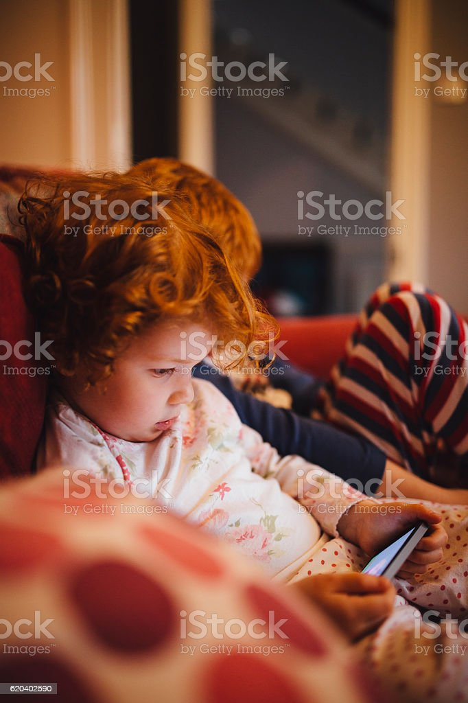 Growing up with Technology stock photo