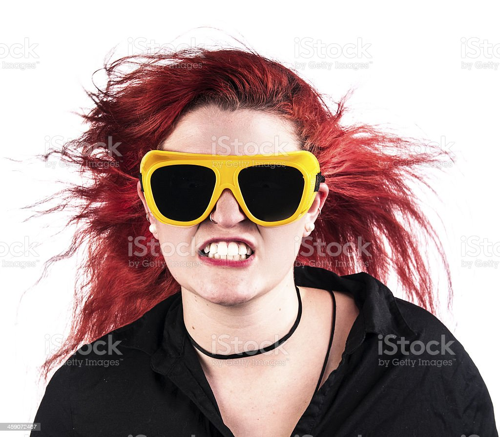 Growling girl royalty-free stock photo