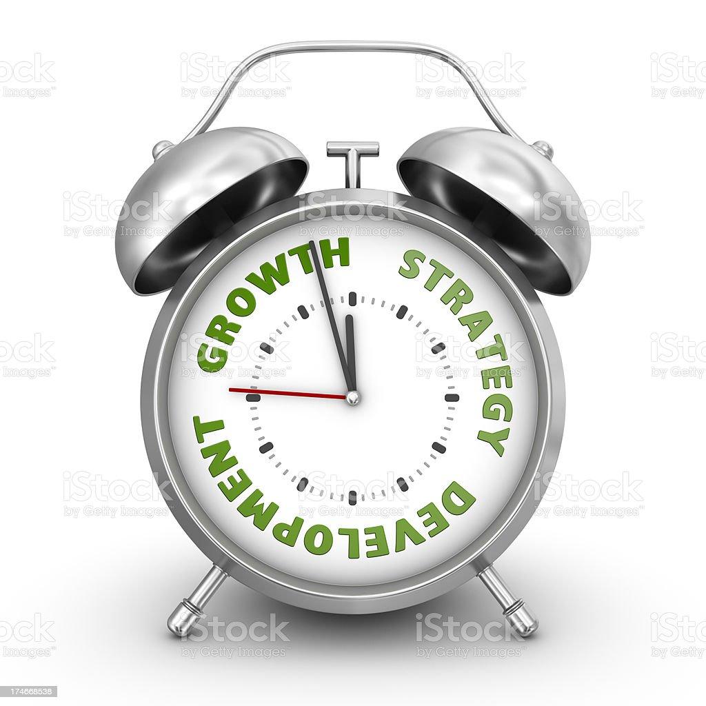 growth alarm clock royalty-free stock photo