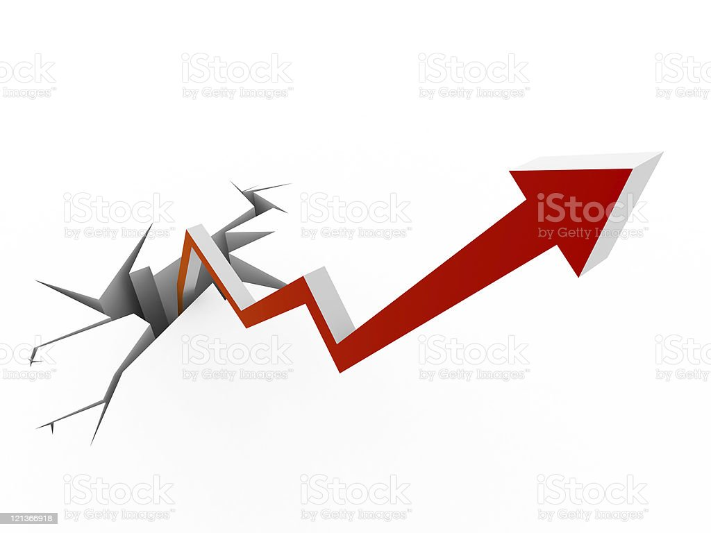Growth Arrow Chart royalty-free stock photo