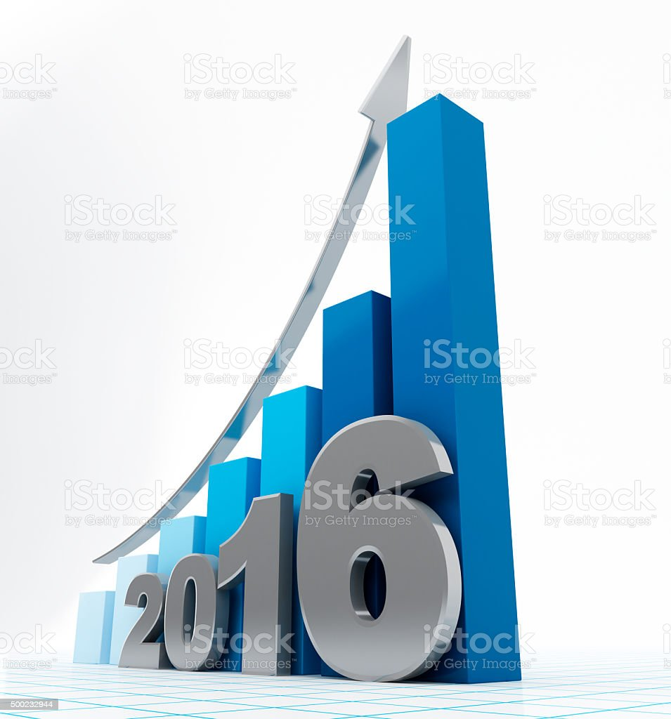 Growth chart 2016 stock photo
