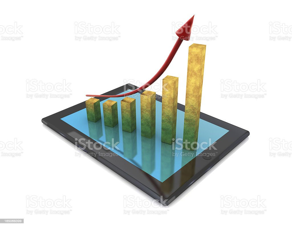 Growth Chart and Tablet PC royalty-free stock photo