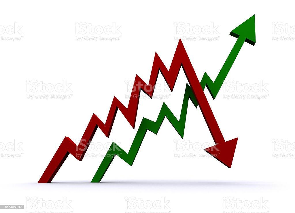 Growth Chart stock photo