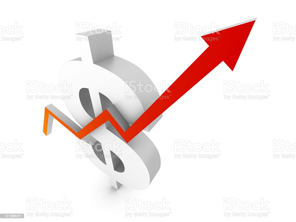 Growth Dollar Chart royalty-free stock photo