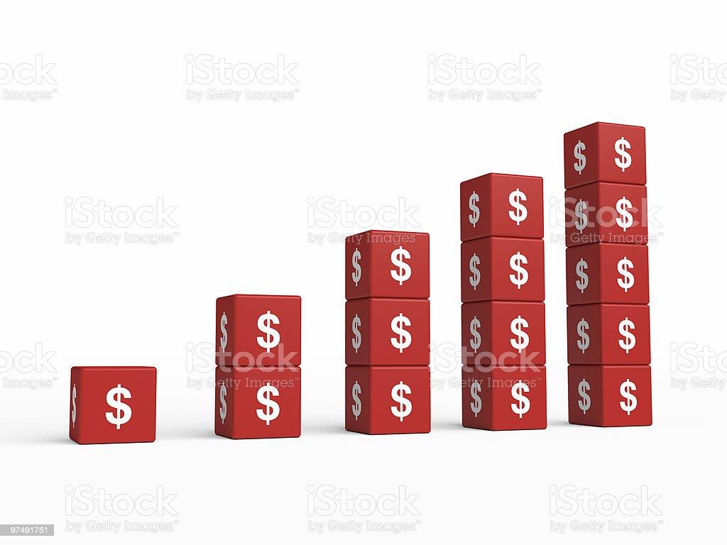 Growth Dollar Chart royalty-free stock photo
