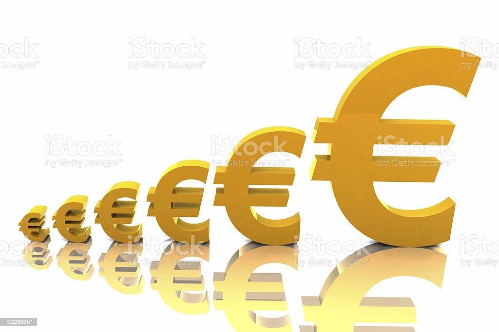 Growth - Euros royalty-free stock photo