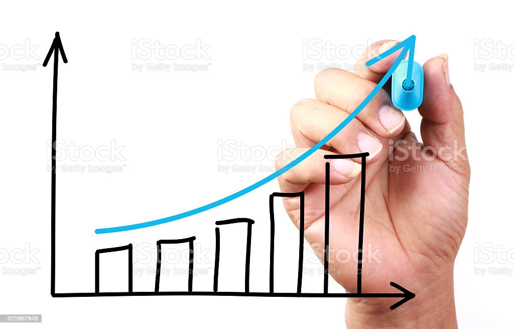 Growth Graph stock photo