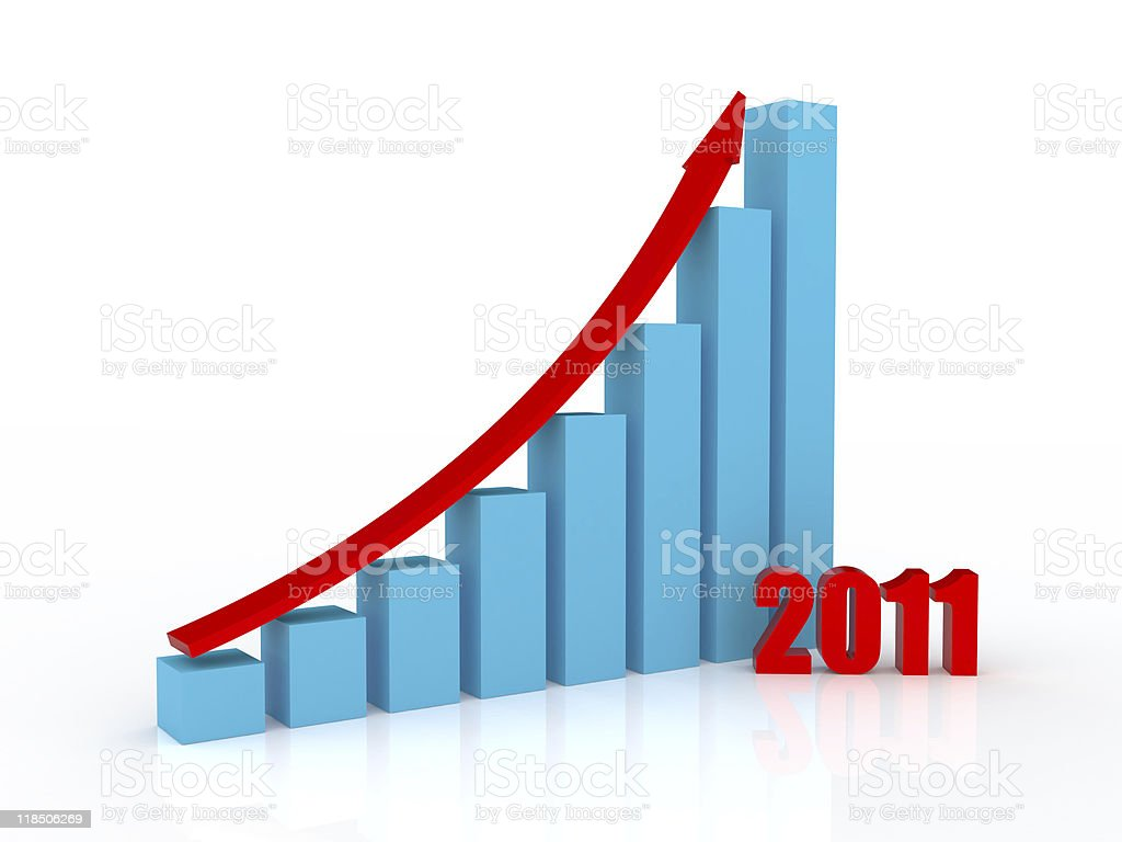 Growth in 2011 royalty-free stock photo
