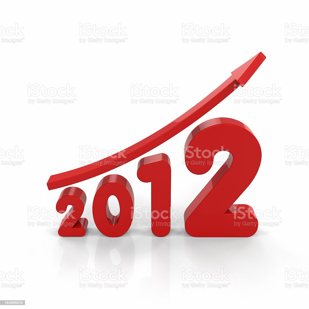 Growth in 2012 royalty-free stock photo