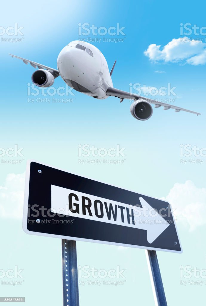 Growth in air business stock photo