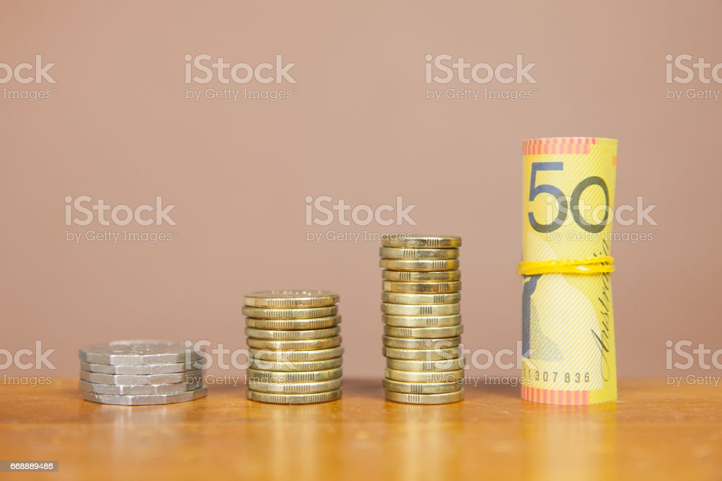 Growth in Australian Currency stock photo