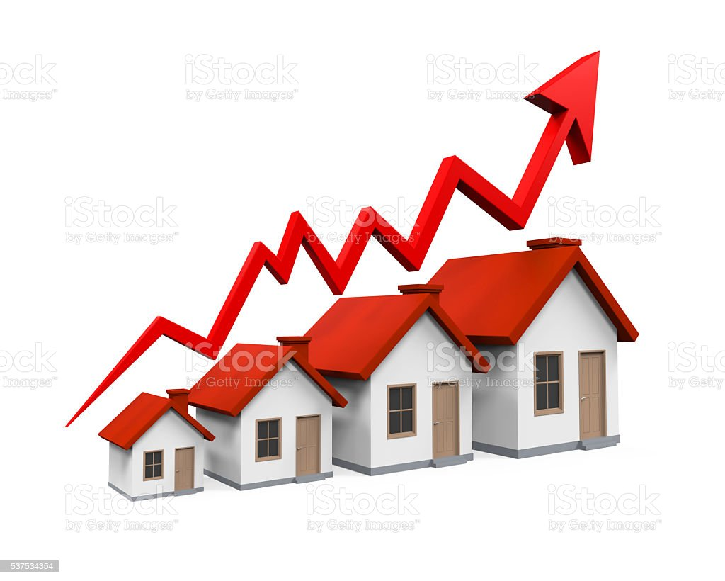 Growth in Real Estate Illustration stock photo