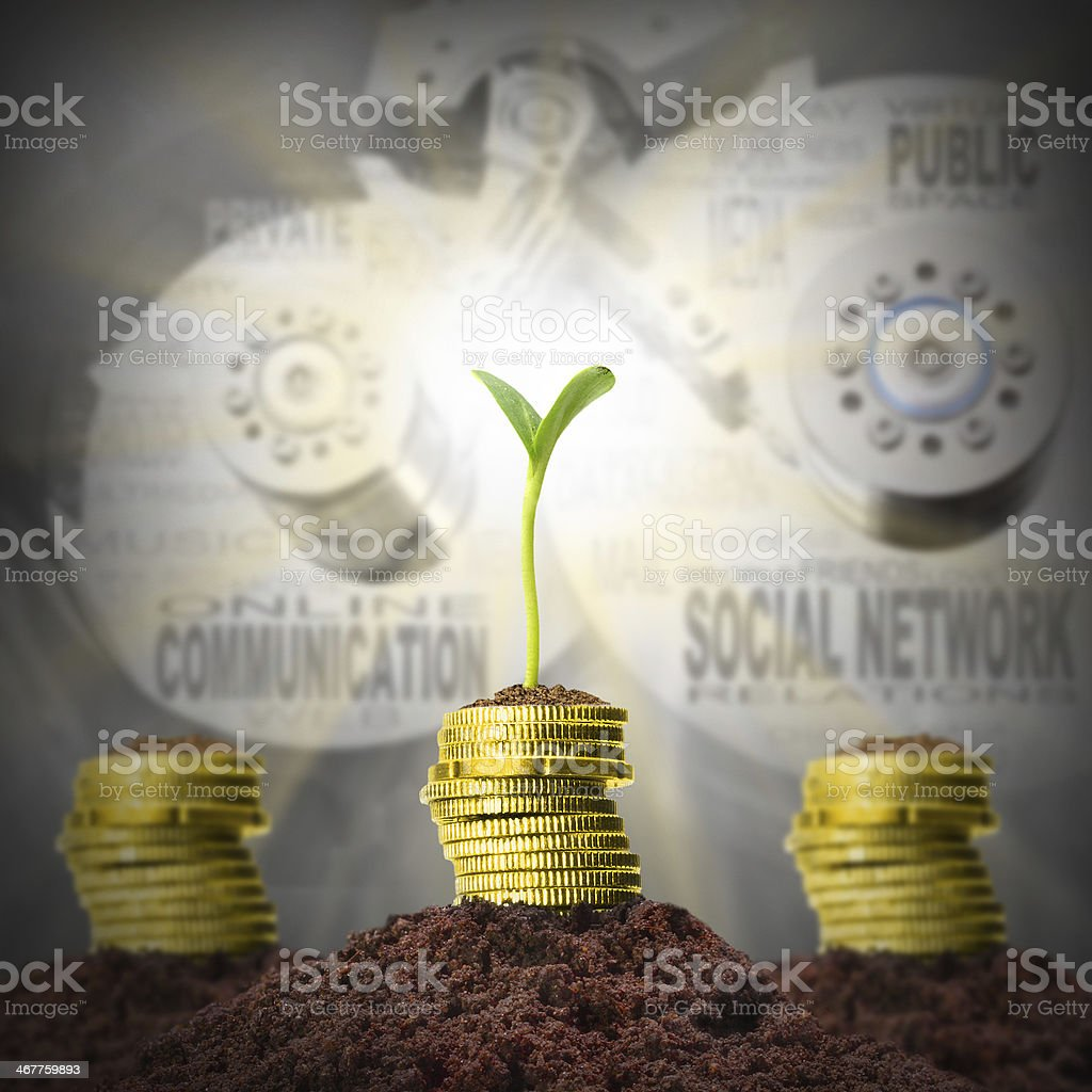 Growth of earnings. stock photo