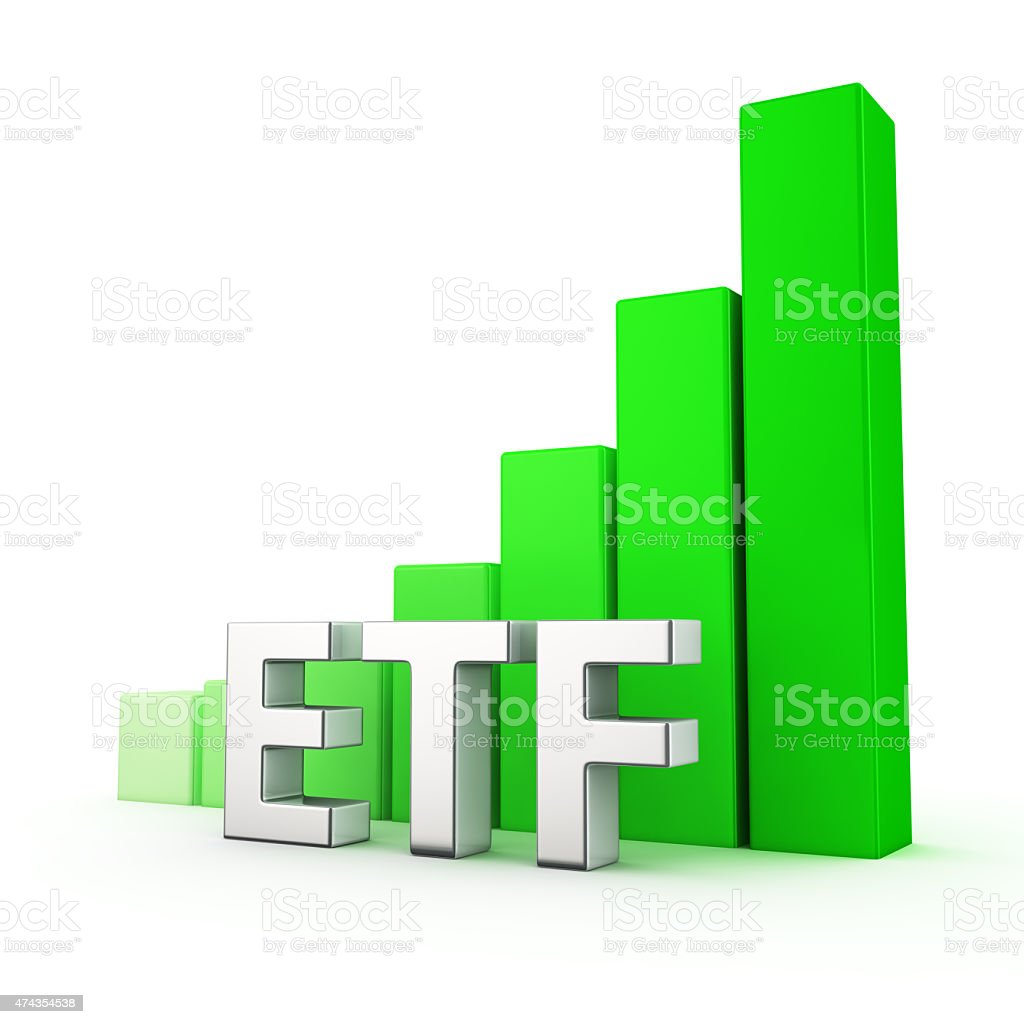 Growth of ETF stock photo