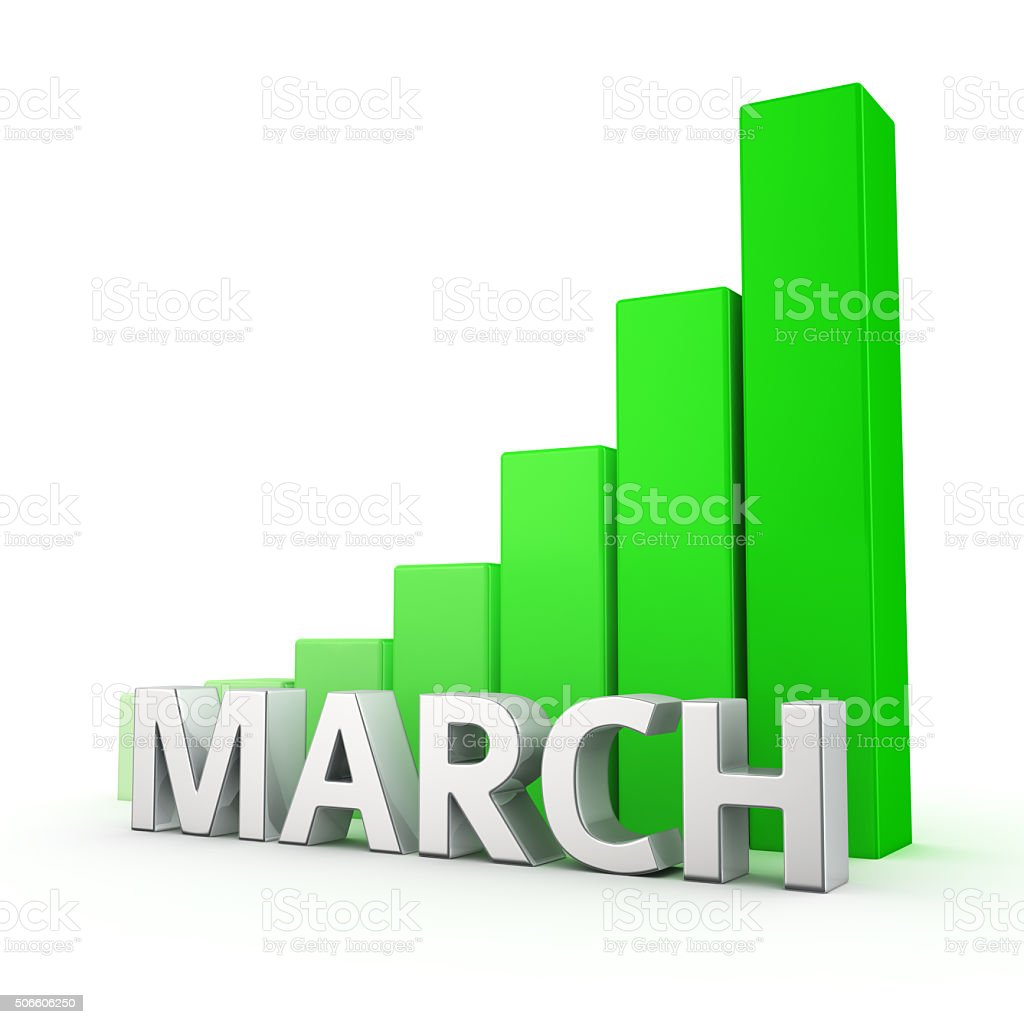 Growth of March stock photo