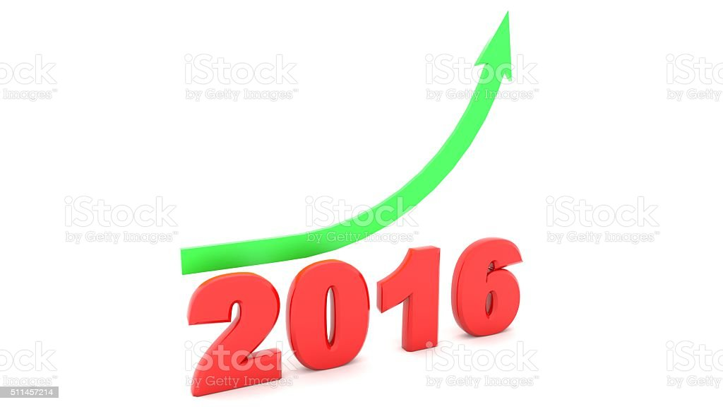 2016 growth royalty-free stock photo