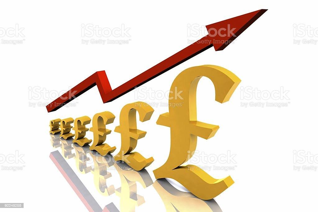 Growth - Pound royalty-free stock photo