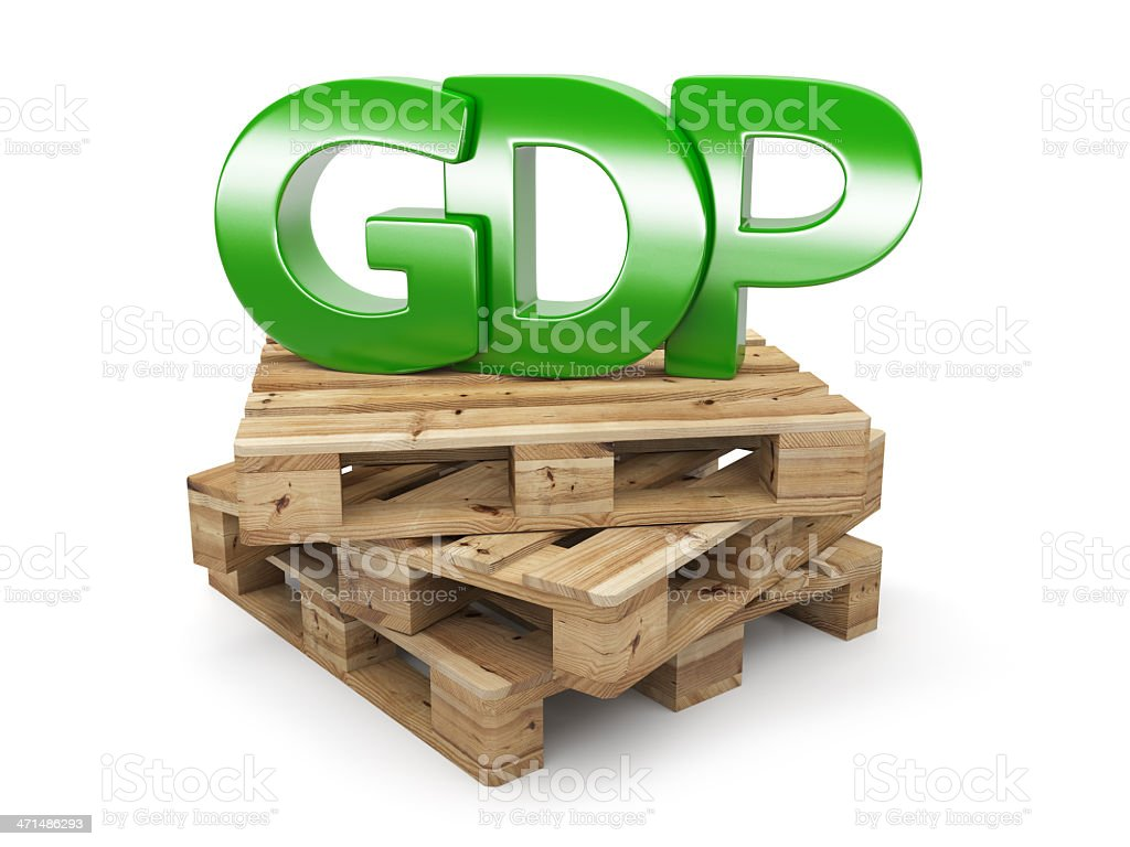 GDP growth rate royalty-free stock photo