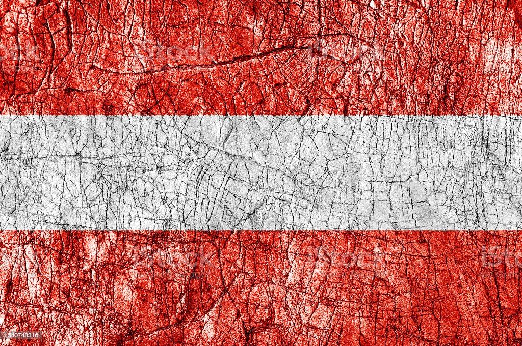 Grudge stone painted Austria flag stock photo