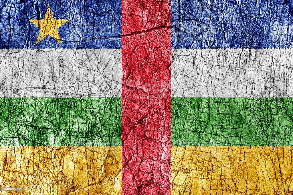 Grudge stone painted Central African Republic flag stock photo